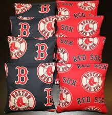 8 CORNHOLE BEANBAGS made w Boston Red Sox Fabric ACA Reg Bags, Top Quality