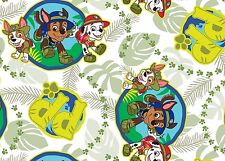 5 YARDS  PAW PATROL RESCUE 100% COTTON FABRIC RUBBLE CHASE MARSHALL NICKELODEON