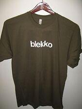 Blekko Internet Web Search Engine Slash Super Hero Techie Geek Khaki T Shirt Lrg