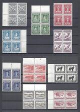 NEWFOUNDLAND 1941-44 SG 276/89 MNH Blocks of 4 Cat £220