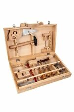 KIDS CHILDREN WOODEN DIY WORK BENCH LEARNING TOOL SET TOY BOX PRETEND ROLE PLAY