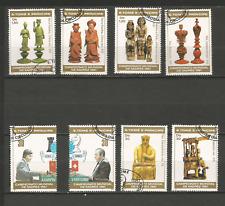 1981 échecs Sao Tomé-et-Principe série 8 timbres anciens oblitérés /T4389