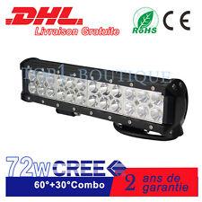 """12"""" 72W CRE Barre à LED Lumière 12V 24V SUV ATV for Jeep Bateau Lampe De Travail"""