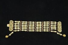 with Faux Pearls by Freirich Designers Costume Jewellry Gold Tone Bracelet