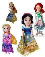 """Official Disney Princess Plush Soft Toy Doll Belle Snow White Ariel Rapunzel 16"""""""