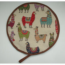 Llama Aga Range Hob Hat Kitchen Pad Hotplate Lid Mat Cover Loop Cook Llamas Red
