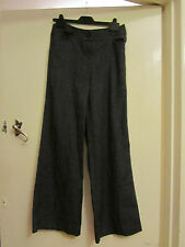 Grey Smart Next Trousers in Size 8 R - L30.5 - Slight Flare