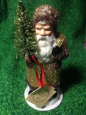 "7.25"" GOLD COLOR SANTA BY INO SCHALLER BAYERN MADE IN GERMANY NEW"