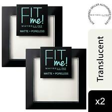 2pk Maybelline Fit Me Matte+Poreless Powder Normal to Oily Skin 090 Translucent