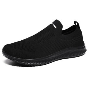 Mens Sneakers Casual Light Walking Slip on Tennis Athletic Running Shoes Loafers