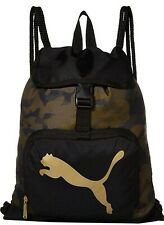 Puma Rhythm Carrysack Gym Sports Bag, Camo-Gold, NEW