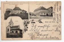 EPFIG Bas Rhin Alsace CPA 67 Gruss aus ... 3 vues église restaurant