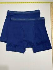 Calvin Klein Boxer Briefs - XL - Blue - 2 Briefs