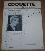 Mary Pickford Coquette Daddy Long Legs Lot of Two Pieces of Movie Sheet Music