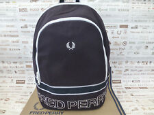 FRED PERRY Backpack L2208 Sports Canvas Rucksack Navy Shoulder Bag BNWT RRP£75