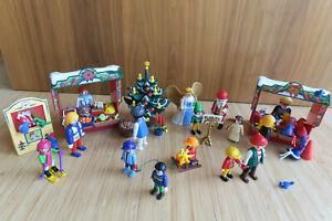 Toller PLAYMOBIL Weihnachtsmarkt mit sehr viel Zubehör