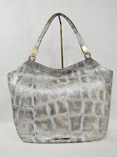 NWT Brahmin Thelma Shoulder Bag/Tote in Pewter Majorelle Embossed Leather