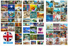 DIY Oil Acrylic Painting Kit Paint By Numbers Adult Children Beginners Frame