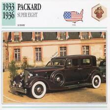 1933-1936 PACKARD SUPER EIGHT Classic Car Photograph / Information Maxi Card