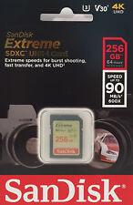 SanDisk Extreme Memory Card 256 GB SDXC Class 10 Uhs-i