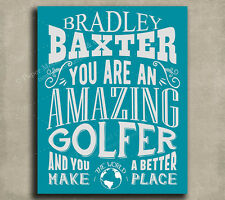 Golfer Amazing Custom Plaque Tin Sign Gift For Dad Father's Day Birthday Golf...