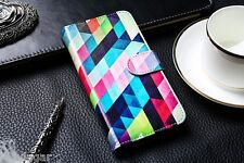 Cover book case pattern card holder leather synthetic Sony Xperia LT30P