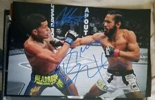 Anthony Pettis & Benson DUAL signed 11x17 photo UFC MMA GLOVE POSTER AUTO Conor