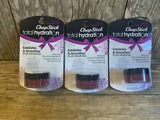 Lot Of 3 ChapStick Total Hydration Exfoliating Balm In Sugar Plum- Smooths Lips