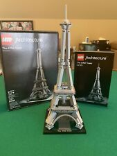 Lego Architecture Eiffel Tower 21019 used in box w/instructions