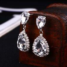 Wedding Dress Fashion Baldpates #E043 Rhinestone Crystal Drop Earring For