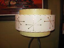 Mid Century Vintage Style 3 Tier Fiberglass Lamp Shade Modern Starburst Atomic