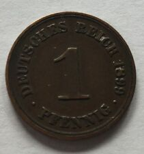 1899D GERMANY 1 PFENNIG! VERY HIGH GRADE!!!