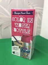 Design your own colour in water bottle Purple ladybug novelty