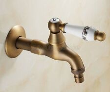 Garden Washing Machine Water Tap Antique Brass Faucet Wall Mount eav131