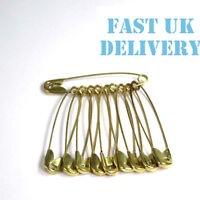 25 extra large Safety baby pins 55mm Gold Steel scarf shawl brooch handkerchief