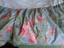 Ralph Lauren Twin Bed Skirt Garden Rambler Cotton Pink Blue 15 Drop Euro Usa Htf