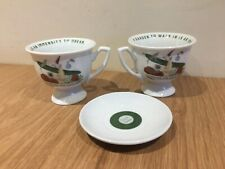 2 Hendricks Gin Tea Cup & 1 Saucer Cultivate the Unusual . A garden to walk in