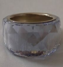 SWAROVSKI Lavender Purple NIRVANA Crystal COCKTAIL Ring Size 55 Women's 7 - EUC