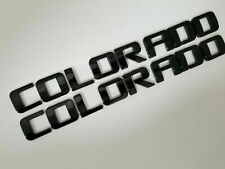 2 PACK black COLORADO for Chevrolet DOOR BADGE FIT CHEVY NAMEPLATE LETTER NAME