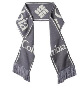 Columbia Scarf Adult Unisex One Size Authentic Lodge Warm Fringe Detailing Grey