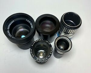 Lot of 5 Lenses Eumig Meopta Super/8 Germany bokeh Projection cine