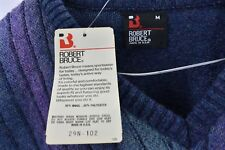 Robert Bruce New Mens Size Large Wool Sweater Large Multicolored Long Sleeve