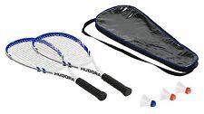 Hudora 75014 Speed Badminton Set HS-55, 2 Schläger, 3 Bälle, Tragetasche