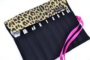 "Gr.L Make Up Pinselrolle ""Leopard"" Pinseltasche Makeup Handmade in Deutschland"