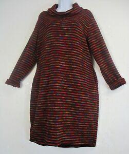 Lagenlook Ladies WomensCowl Neck Dress/LongTop 95% Acrylic OneSize:Regular 12-16