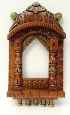 Wood Photo Frame Vintage Old Jharokha Picture Frame Hand Carved Collectible Art