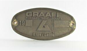 Original Waggonschild GRAAF Kommanditgesellschaft Elze/Leine 1980