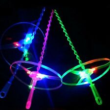 Light Up LED Flashing Flying UFO Saucer Helicopter Outdoor Kid Toys Creative New