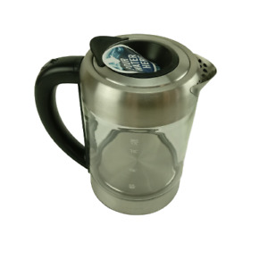 Ovente Glass Electric Kettle with Prontofill Technology Silver 04364