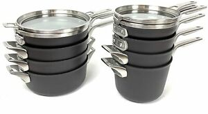 Calphalon Premier 12-Piece Hard Anodized Space Saving Stackable Cookware